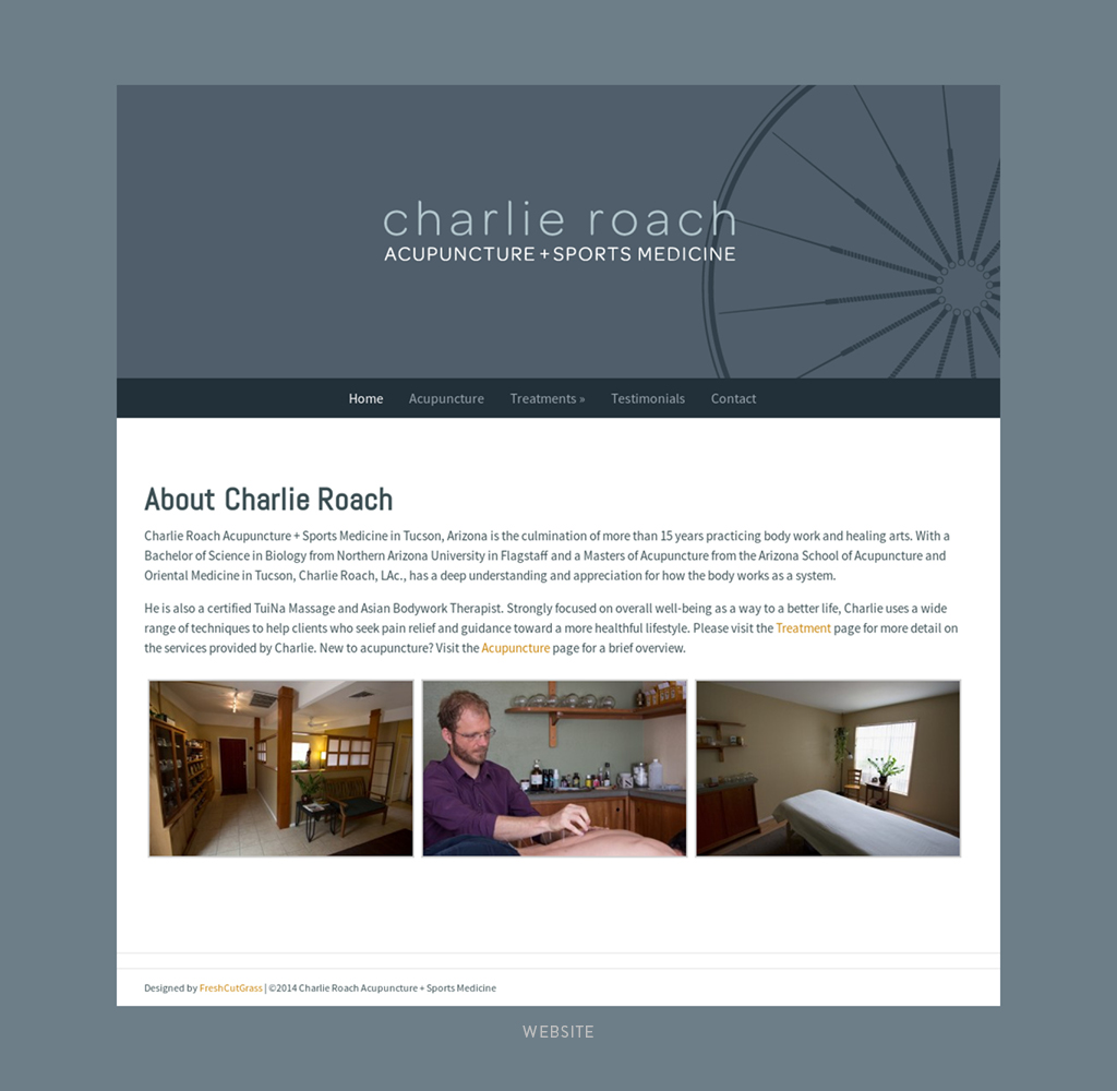 Charlie Roach Acupuncture +Sports Medicine Website