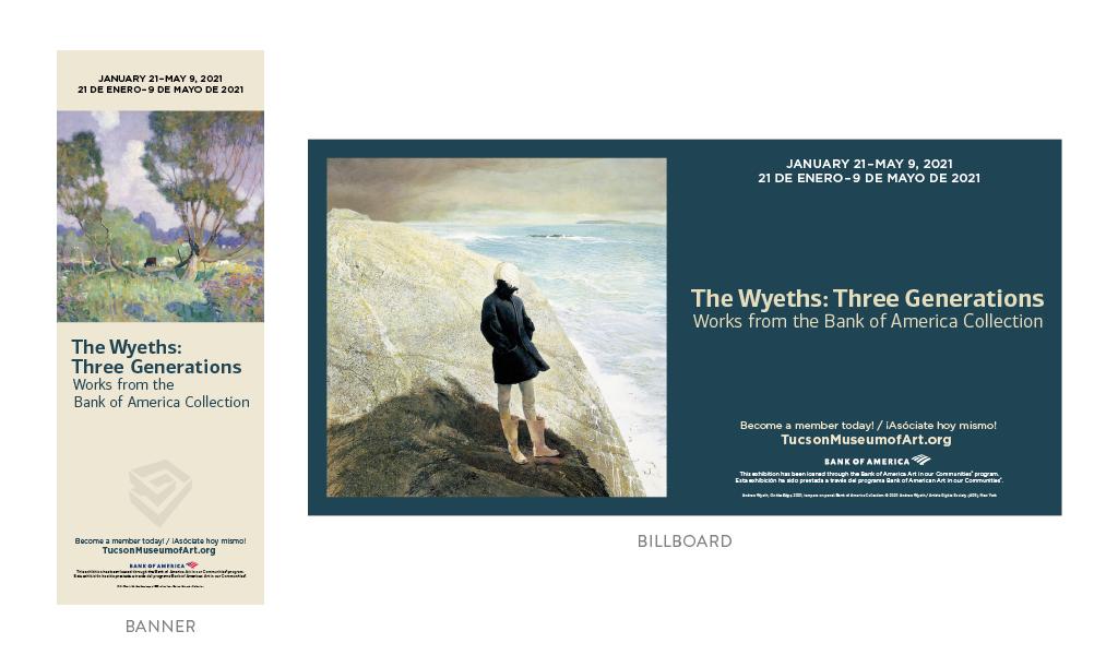 Tucson Museum of Art Wyeths Exhibition Signage
